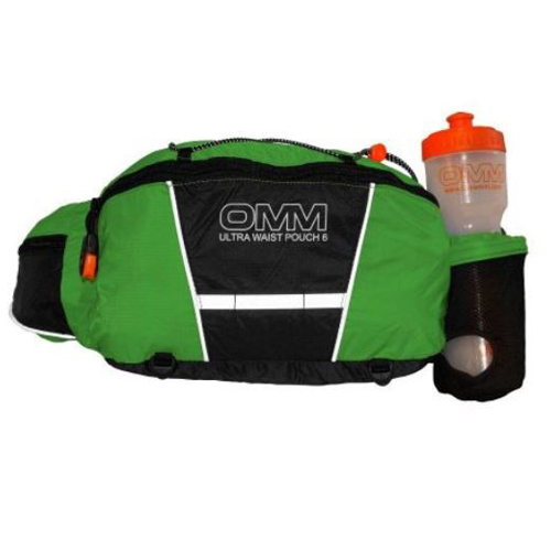 OMM Ultra Waist Pouch (With Bottle) Green and Black