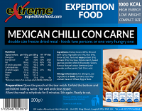 Extreme Expedition Food Mexican Chilli con Carne 1000 Kcal