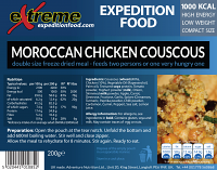Extreme Expedition Food Moroccan Chicken Couscous 1000 Kcal