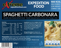 Extreme Expedition Food Spaghetti Carbonara 1000 Kcal