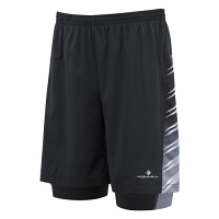 RonHill Advance Twin 7 inch Shorts Black