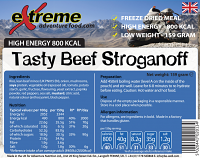 Extreme Adventure Food Beef Stroganoff 800 Kcal