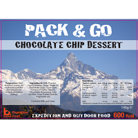 Pack N Go 600 Kcal expedition Food Chocolate Chip Dessert
