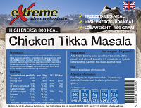Extreme Adventure Food 800 Kcal Chicken Tikka Masala