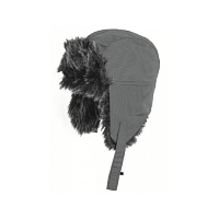 Highlander Faux Fur Hat Charcoal