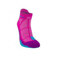 Hilly Ladies Cusion Socklet Fluo Pink/Blue/Thistle