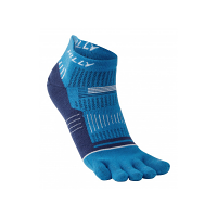 Hilly Toe Socklet Electric Blue/Mid Blue/White