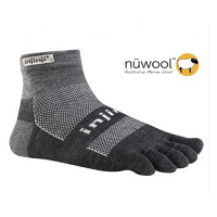 Injinji Outdoor Midweight Mini-Crew NuWool Charcoal