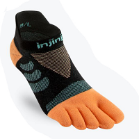Injinji Ladies Ultra Run No Show Tide Toe Running Socks