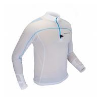 Raidlight Ladies Desert Long Sleeve Shirt White/Electric Blue