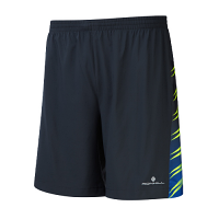 RonHill Mens Vizion 7 inch Twin Short Black/Fluo Yellow