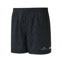 "RonHill Mens Momentum 5"" Short Hex Granite"