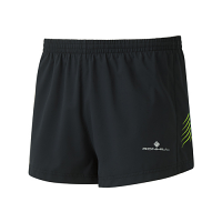 RonHill Mens Stride Cargo Racer Short Black/Fluo Yellow