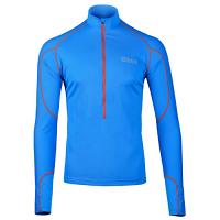 OMM Meridian Long Sleeve Quarter Zip Midlayer Blue Mens