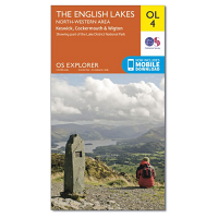 Ordnance Survey OL 4 English Lakes North West Area 1:25 000