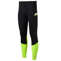 Ron Hill Mens Tech Stretch Tight Black and Yellow