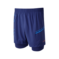 RonHill Mens Infinity Marathon Twin Short Mid Blue/Electric Blue