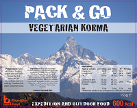 Pack N Go 600 Kcal Expedition Food Vegetarian Korma