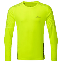 RonHill Mens Life Nightrunner Long Sleeve Tee Fluo Yellow/Reflect