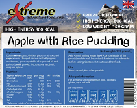 Extreme Adventure Food Apple & Rice Pudding 500 Kcal