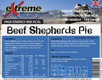 Extreme Adventure Food Beef Shepherds Pie 800 Kcal