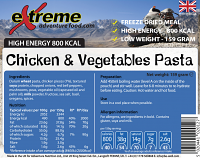 Extreme Adventure Food Chicken Pasta & Vegetables