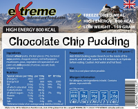 Extreme Adventure Food Chocolate Chip Dessert 500 Kcal
