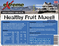 Extreme Adventure Food Healthy Fruit Muesli 800 Kcal