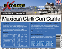Extreme Adventure Food Mexican Chilli con Carne