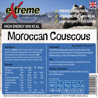 Extreme Adventure Food Moroccan Chicken Cous Cous 800 Kcal