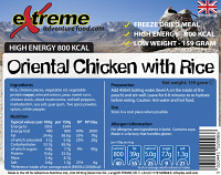 Extreme Adventure Food Oriental Chicken & Rice 800 Kcal