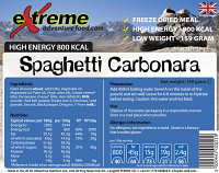 Extreme Adventure Food Spaghetti Carbonara 800 Kcal